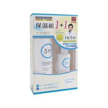 DR.JOU六重玻尿酸冰河醣蛋白5in1極水潤精華液組