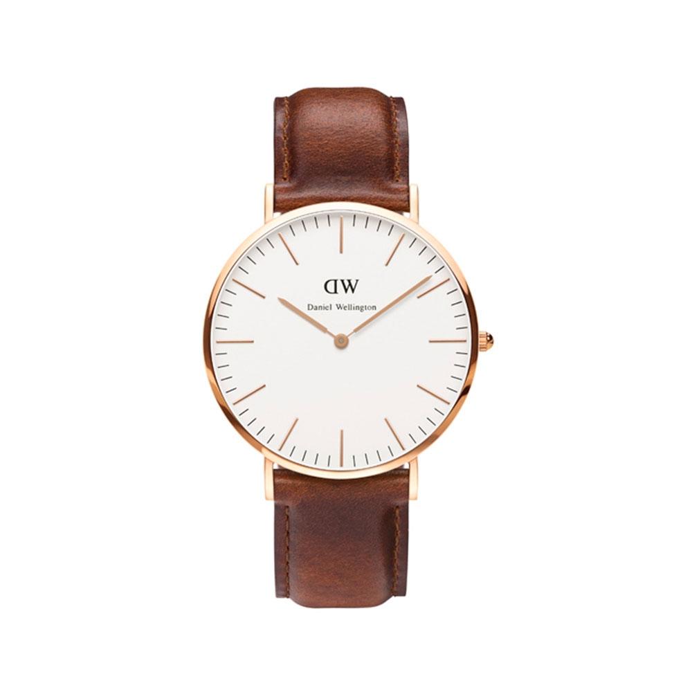 CLASSIC ST. MAWES 40MM 玫瑰金蛋殼白錶盤腕錶