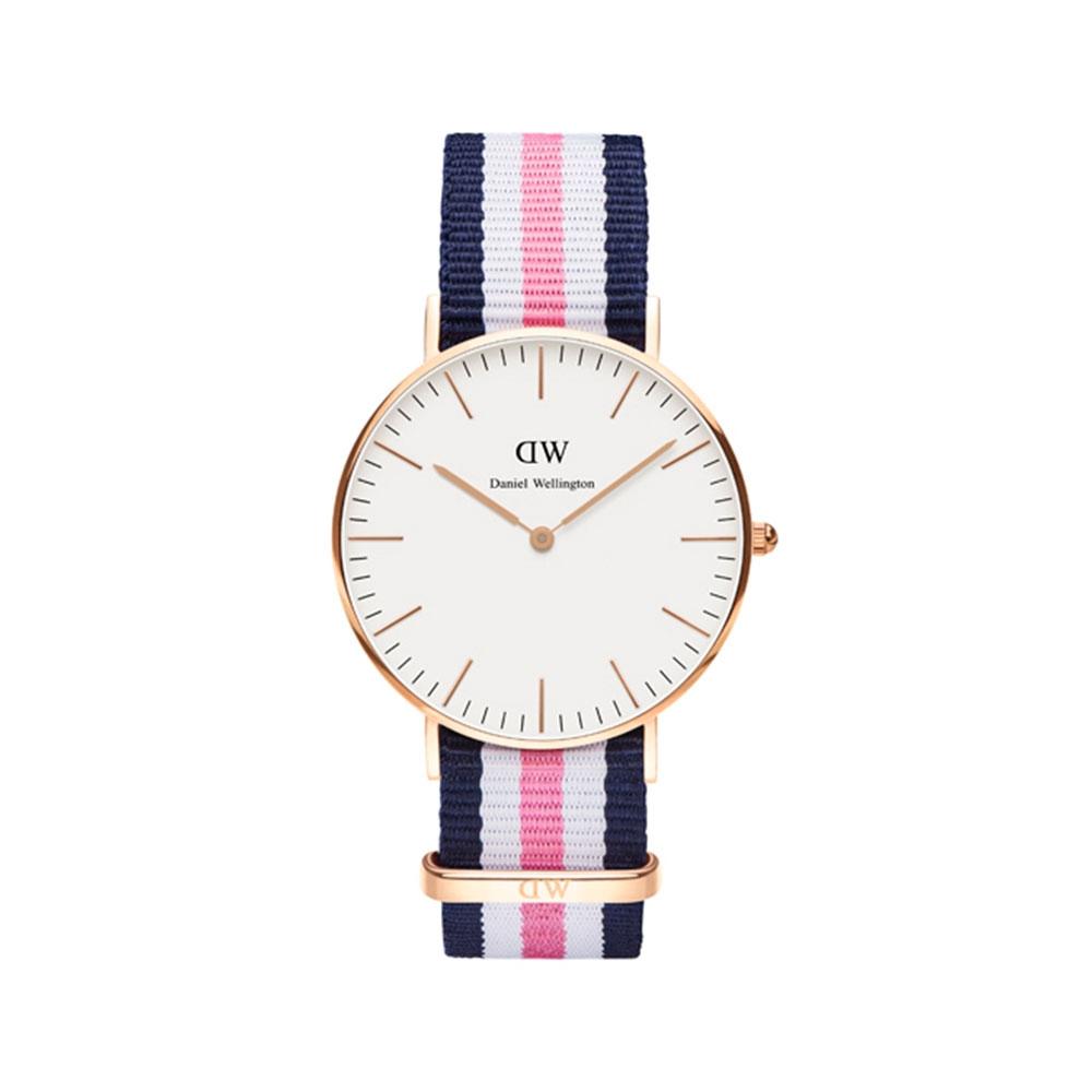CLASSIC SOUTHAMPTON 36MM 玫瑰金蛋殼白錶盤腕錶